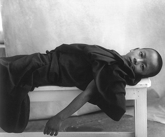 ©Sheila Rock, Reclining Monk, 2002
