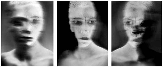 Visage Spirite 1, 2, 3 2002.Tirage argentique 50 x 60 cm où 100 x 80 cm