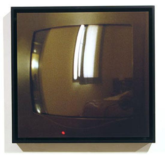 "TV #4 (Barcelona) Chromogenic Print mounted to Plexiglas + wood frame 18.5"" x 19.25"" 2005 edition # 2/7 + 2 A/P"