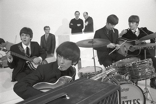 © Max Scheler, The Beatles am Set für A Hard Day´s Night, Großbritannien, 1964
