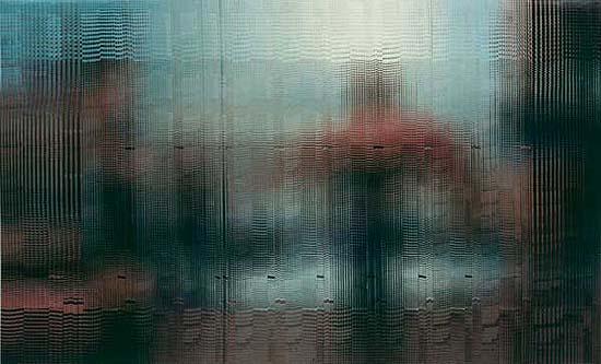 Am Strand, 2002, Postkarten, 180 x 290 cm