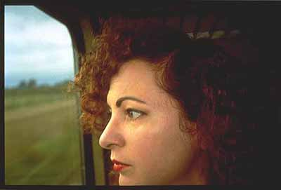 Self Portrait at the Train, Germany 1992 © Nan Goldin
