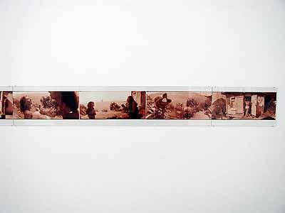 Boris Mikhailov: installation view (detail), galerie conrads, september 2003