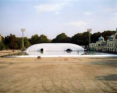 Ice-Ring in Budapest, 2001, 47 x 55 inches