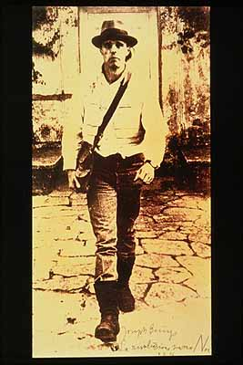 Joseph Beuys . La revoluzione siamo moi 1972Phototype on polyester, ink, ink stamp. 75 1/2 x 39 3/8 inches.Alfred and Marie Greisinger Collection, Walker Art Center; T.B. Walker Acquisition Fund, 1992.