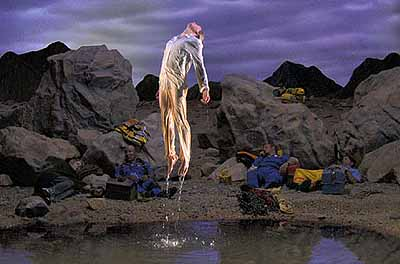 Bill Viola, Going Forth By Day: First Light (Panel 5), 2002. Video/sound installation, dimensions variable. Deutsche Guggenheim Berlin. Photo: Kira Perov.