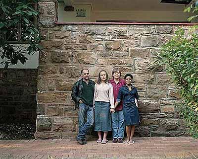 David GoldblattThe Nunn Family, 2002Cedric Nunn, Kathleen 'Kathy' Ebersohn, Liz Ebersohn, Nikiwe MpetsheniColor photograph