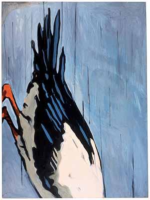 Bird #1, 1962, 162,56 x 121,92 cm, Öl auf Papier © Marian Goodman Gallery, NY