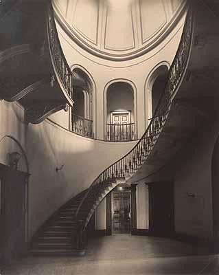 Harold Cazneaux (1878–1953)Staircase, Elizabeth Bay House 1930photograph; b&w; 37.7 x 30.4 cmCazneaux Collection