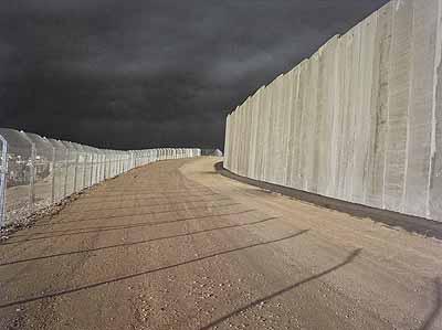Noel Jabbour, Before the Storm,Jerusalem, 2004, from: Segregation Wall