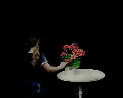 Girl and Pelargonium, 2003
