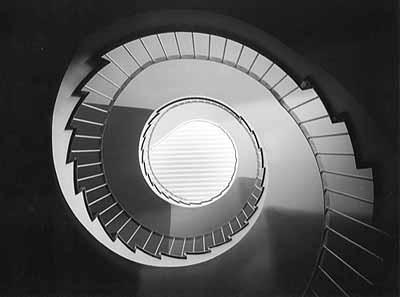 Funkhaus Hannover, Wendeltreppe © H. Heidersberger 1951