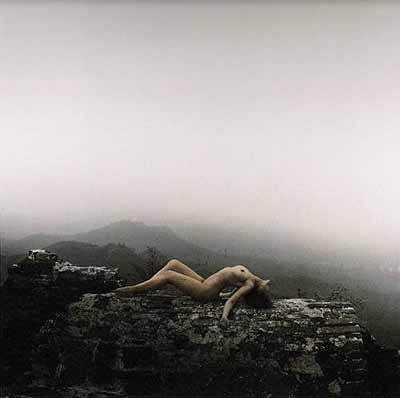 RongRong & inri In the great wall 1, hand-dyed Silver gelatin print, 100 x 100 cm