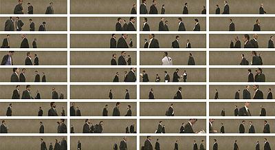 © Pablo Zuleta Zahr 2005 Männer in Schwarze Anzüge. Laserjet auf Diasec.