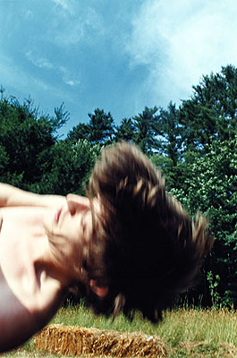 Ryan McGinley, Tim falling, 2003, Color photograph, © Ryan McGinley, courtesy team gallery, New York