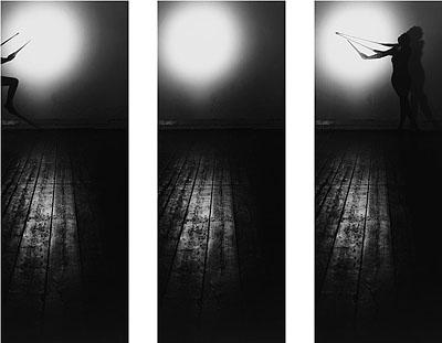 G. Roland Biermann, Apparition 7, Triptych, 2004, Gelatin Silver Prints on Aluminium, 90 x 30 cm each