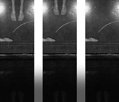 G. Roland Biermann, Apparition 17, Triptych, 2004, Gelatin Silver Prints on Aluminium, 90 x 30 cm each