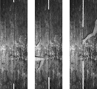 G. Roland Biermann, Apparition 21, Triptych, 2004, Gelatin Silver Prints on Aluminium, 90 x 30 cm each