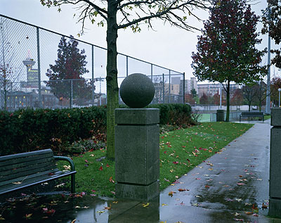 Jeff WallConctrete Ball, 2002Transparency in lightbox204 x 260 cm© Jeff Wall