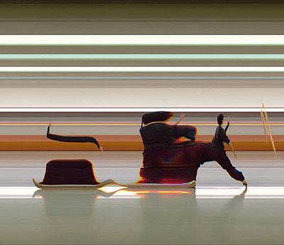 @ Jay Mark Johnson Tai Chi Motion Study #010, 2006