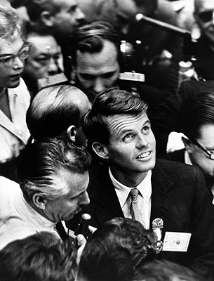 Robert Kennedy, campaign manager for John F Kennedy, on the floor during the Democratic National Convention, Los Angeles, CA 1960 by Alfred Eisenstaedt © Time Inc. used with permission