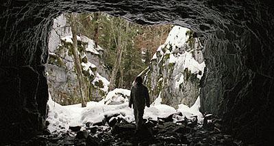 Salla Tykkä, Cave, 2003, 35 mm film still. Courtesy of the artist / Yvon Lambert Gallery, New York.