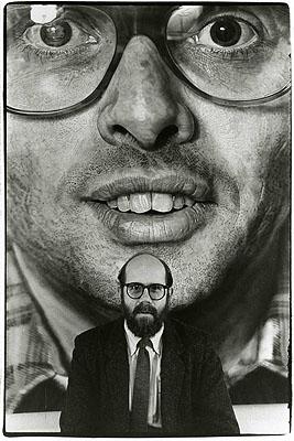 Shigeo ANZAÏ, Chuck Close, Fuji Television Gallery, Tokyo, March 2, 1985 ©ANZAÏ