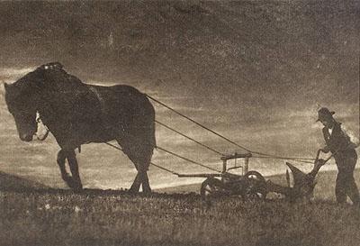 August Sander. Der Bauer. 1919. Vintage. Bromölumdruck. 32 x 47 cm