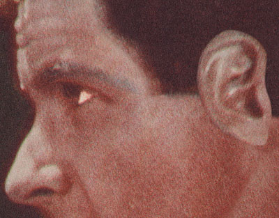 John Baldessari, Noses & Ears, Etc. (Part Four): Altered Person (Color) 2007, 109.9 x 140.3 x 7.6 cm (Courtesy Mai 36 Galerie, Zürich)