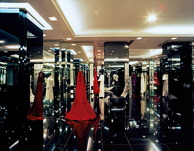 Jacqueline Hassink, Jean Louis Scherrer, Haute Couture Fitting Rooms, Paris, France, 25 September 2003