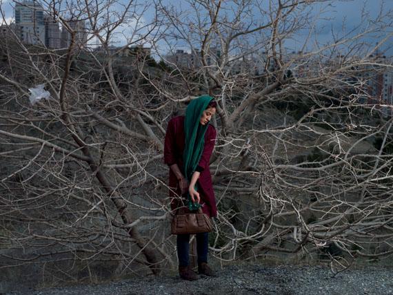 A portrait of Somayyeh, a 32-year old divorced teacher.© Newsha Tavakolian