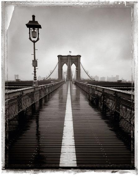 Christopher ThomasBrooklyn Bridge III, 2008Archival Pigment Print auf Aquarelle Arches,cold pressed, manuelle Beschichtung© Christopher Thomas