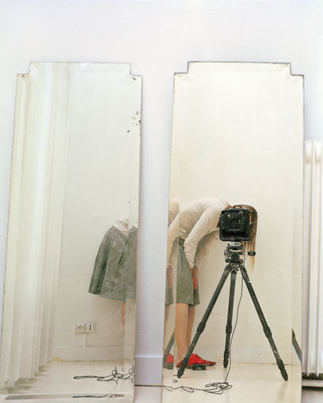 "© Elina Brotherus/VG Bild-Kunst, Bonn 2014, Artist and Model Reflected in a Mirror 1, from the series ""Artist and her Model"", 2007"