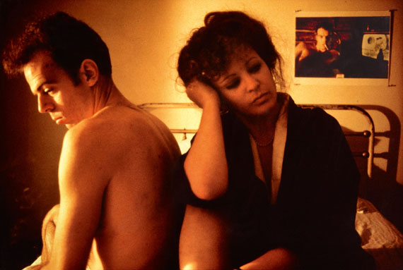 Nan Goldin, Self portrait in kimono with Brian, New York City, 1983. Cibachrome print plastic board. 65.5 x 98 cm (69.5 x 101.5 cm). From an edition of 25. Estimate 10,000 – 12,000 €