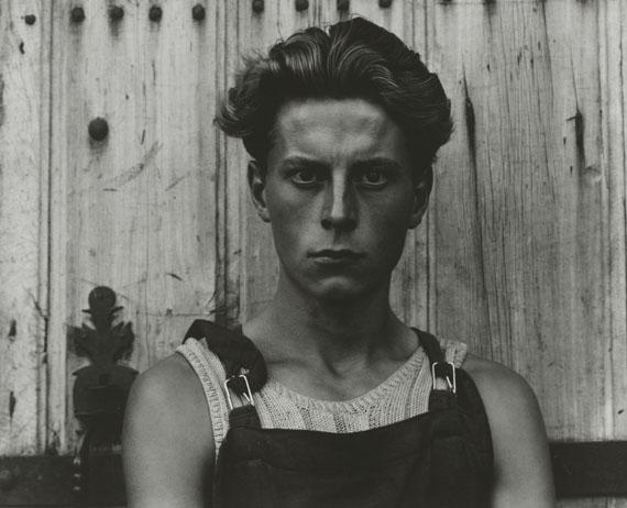 Paul StrandYoung Boy, Gondeville, Charente, France, 1951Gelatin-silver print, 19.4 × 24.4 cmPhiladelphia Museum of Art, The Paul Strand Collection© Estate of Paul Strand