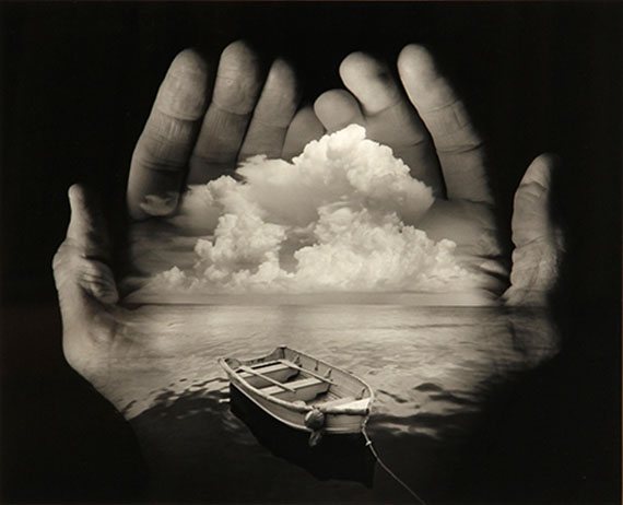 JERRY UELSMANN (AMERICAN, BORN 1934)Untitled (Hands with boat and clouds), 1996Gelatin silver print10 x 12in$2,000 - 3,000
