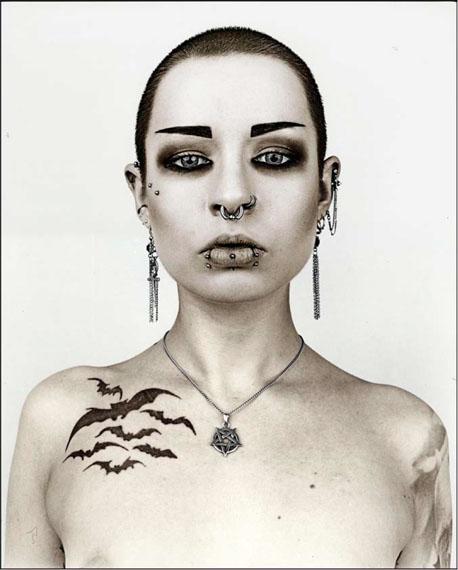 Jan C. Schlegel: Triz T. #5, Bat Cave Punk, Germany, 2015, Silver Gelatin Print, toned
