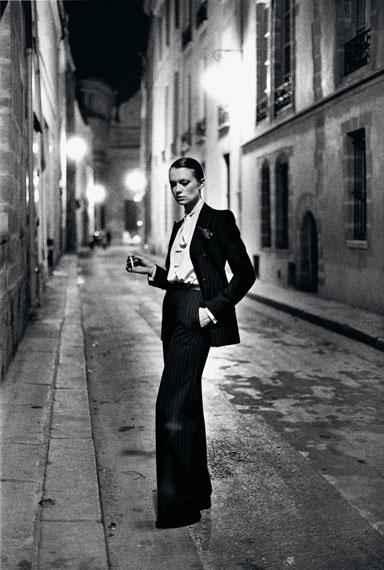 Yves Saint Laurent, French Vogue, Rue Aubriot, Paris 1975© Helmut Newton Estate / Maconochie Photography