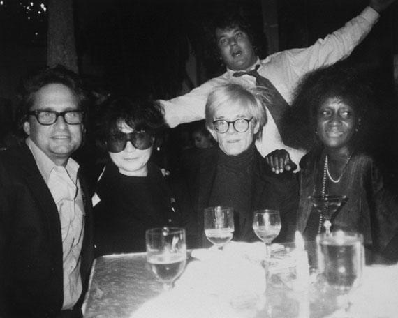 Andy WarholAndy Warhol, Michael Douglas, Yoko Ono, Jann Wenner, and Unidentified Woman, 1986Gelatin silver print8 x 10 in..Est. 12,000–16,000 USD