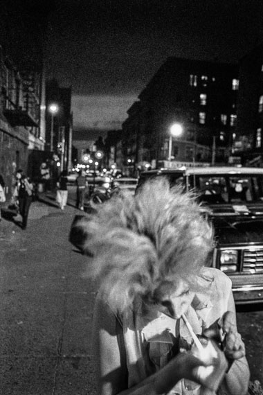 Ken Schles, Claudia Lights Up, 1985. © Ken Schles