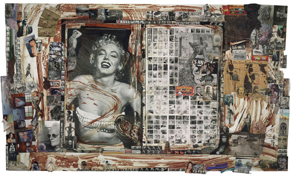 Lot 72PETER BEARD (B. 1938)Heart Attack City, 1972/1998complex collage of chromogenic, gelatin silver and halftone prints, various found objects50 x 85 in. (128.5 x 217 cm.)© Peter Beard. By permission of Peter Beard Studio, New York.£300,000-400,000