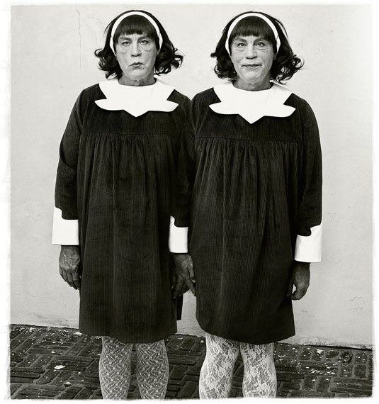 Diane Arbus,  Identical Twins, Roselle, New Jersey (1967), 2014 © Sandro Miller