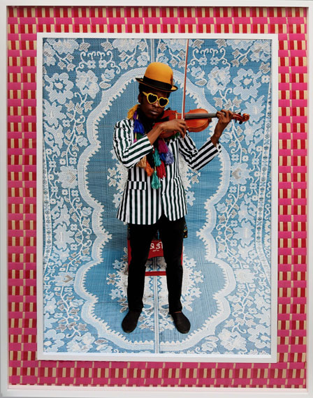 Hassan Hajjaj, Mr. Toliver, 2010, Metallic lambda print on Dibond with wood and plastic mat frame. Collection of the Newark Museum. Courtesy the artist and Taymour Grahne Gallery, New York