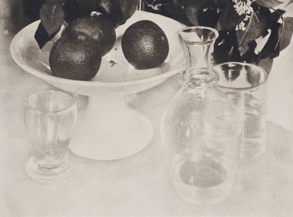 Heinrich Kühn: o.T. (Stillleben mit Orangen), um 1909. Doppelter Bromölumdruck© Museum Folkwang, Essen