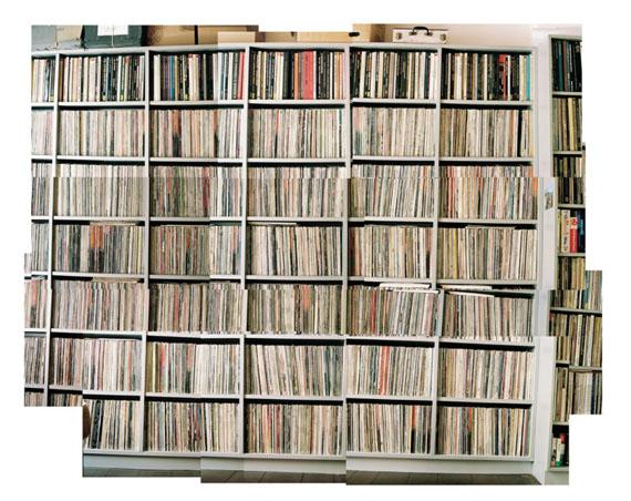 Martin Mlecko, Bibliothek XIV 2011Collage Edition 5 + 2 AP, 120 x 143 cm