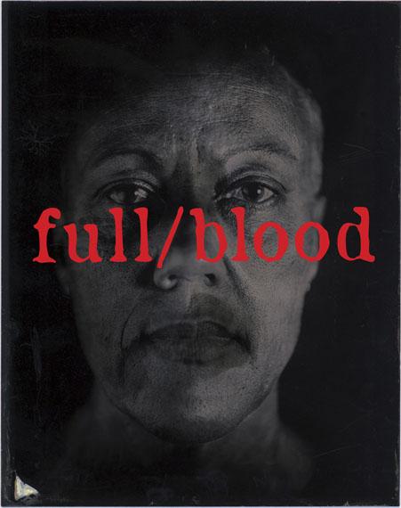 Brenda L Croft: full/blood, 2016, from the series blood/type. Pigment print, 118.9 x 84.1cm