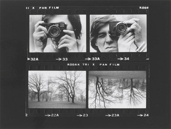 Timm Rautert: Selbst mit Kamera gedreht (o°, 180°), 1972, Negativmontage, auf KartonKupferstich-Kabinett, Staatliche Kunstsammlungen Dresden© Timm Rautert/SKD, Foto: Herbert Boswank