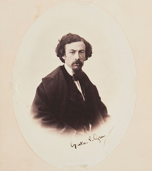 Self-portrait of Gustave Le Gray, 1857Albumen print. Signed in black ink by the photographer24,7 x 18,4 cm