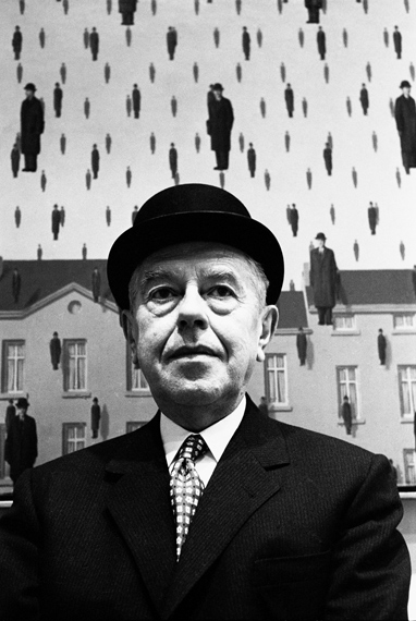Rene Magritte at MOMA, New York, 1965 © Steve Schapiro