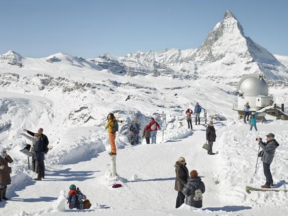 "Simon Roberts: Gornergrat, Zermatt, 2016, from the project ""Unfamiliar Familiarities"" © Simon Roberts"